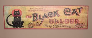 Black Cat Saloon Sign