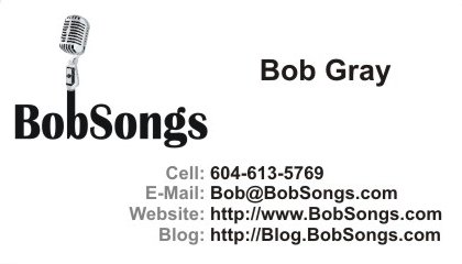 BobSongs - Business Card