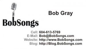 BobSongs - Business Card